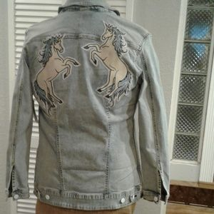LuLaRoe Jackets & Coats - 🦄🦄🦄UNICORN JAXON DENIM JACKET!